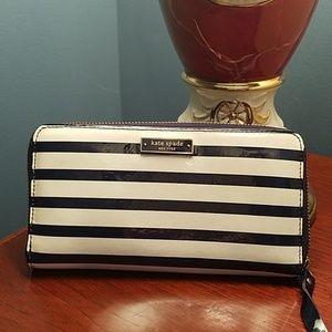 ♠️Kate Spade♠️ blue striped wallet